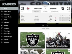 Oakland Raiders NFL Game Apps Review